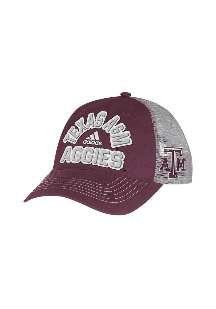 Adidas Texas A&M Aggies Meshback Slouch Adjustable Hat - Maroon - Image 2