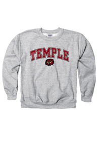 Temple Owls Youth Grey Arch Mascot T-Shirt