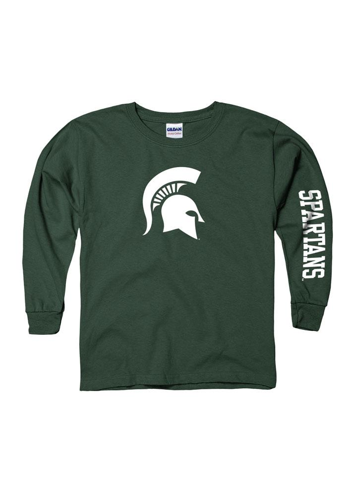 Michigan State Spartans Youth Green Logo T-Shirt
