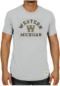Original Retro Brand Western Michigan Broncos Grey #1 Fashion Tee