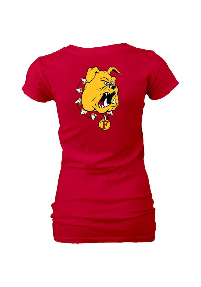 Ferris State Bulldogs Womens Red Rally Loud V-Neck T-Shirt - Image 1