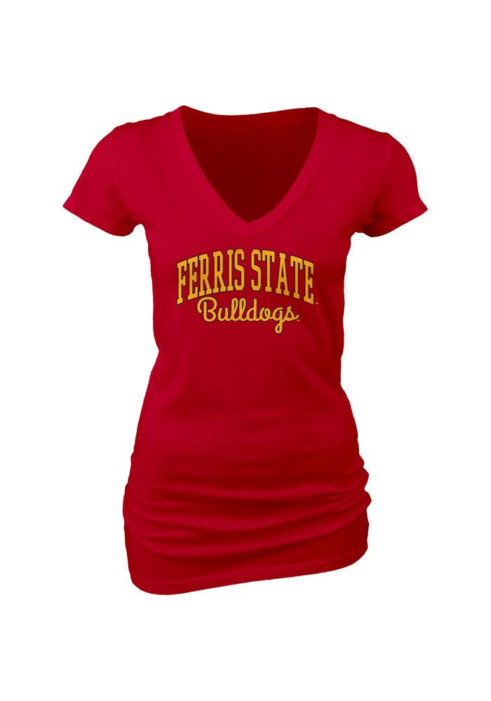 Ferris State Bulldogs Womens Red Rally Loud V-Neck T-Shirt - Image 2