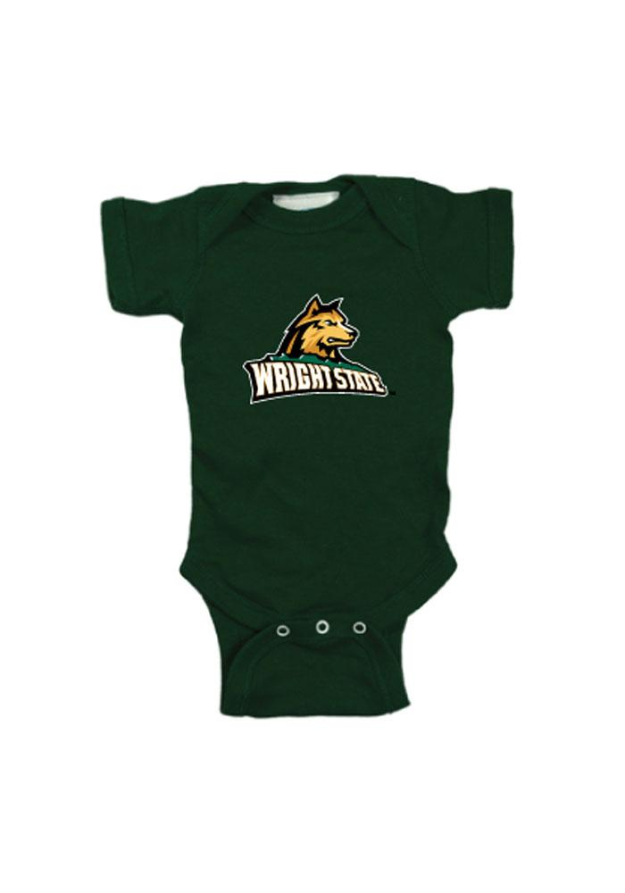 Wright State Raiders Baby Green Logo One Piece