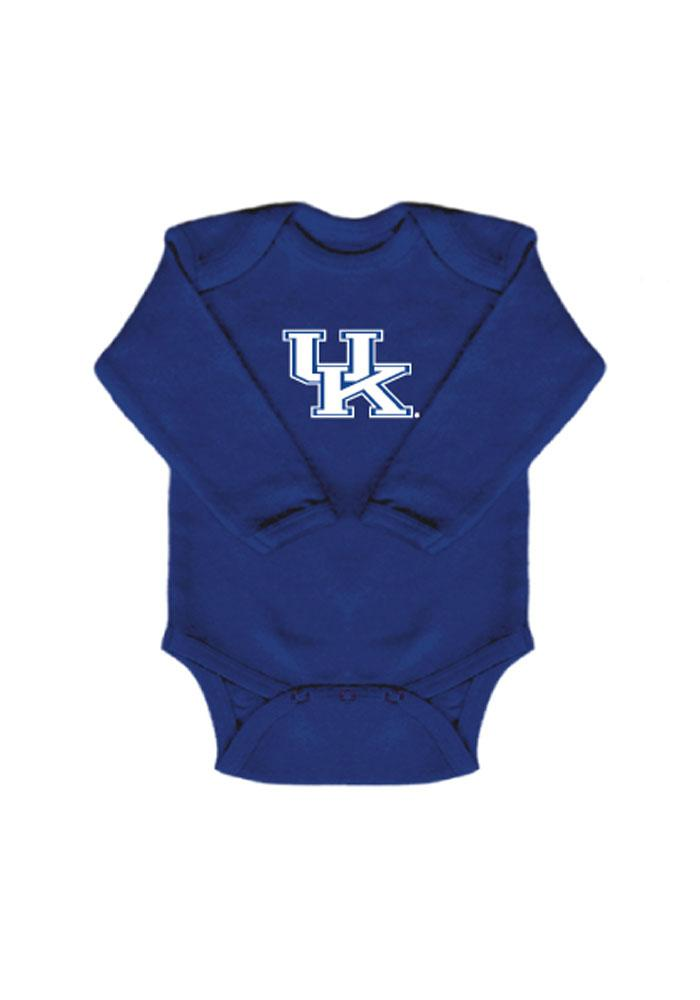 Kentucky Wildcats Baby Blue Logo Long Sleeve One Piece - Image 1