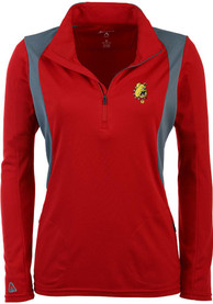 Ferris State Bulldogs Womens Antigua Delta 1/4 Zip - Red