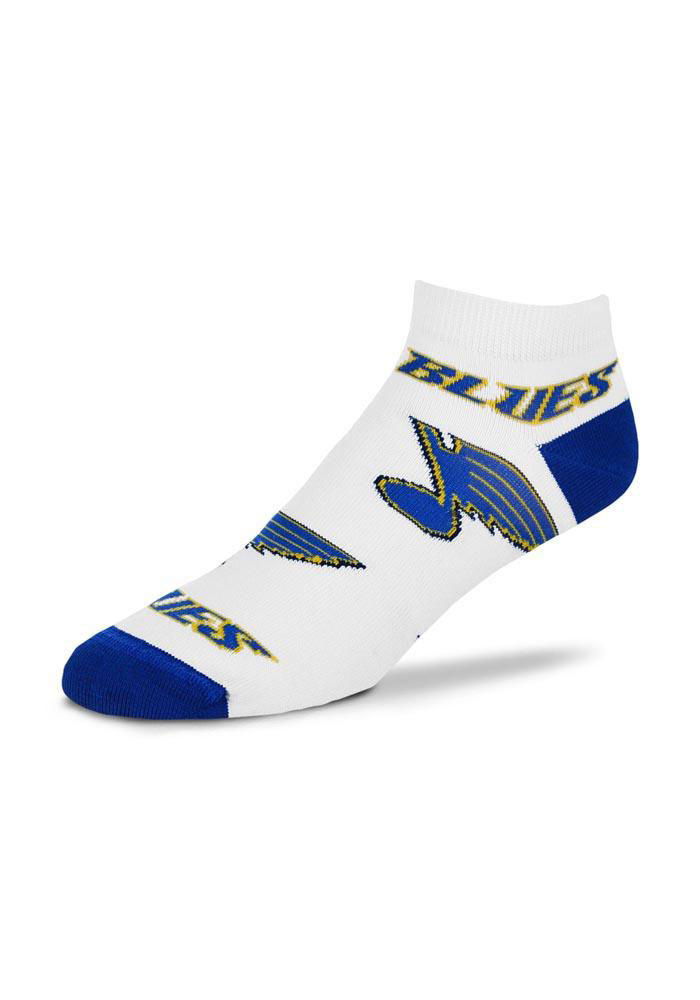 St Louis Blues Allover Logo Womens No Show Socks - Image 1