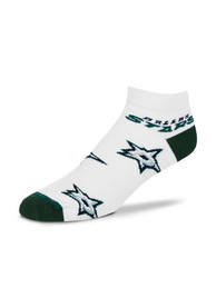 Dallas Stars Womens Logo All-Over No Show Socks - White