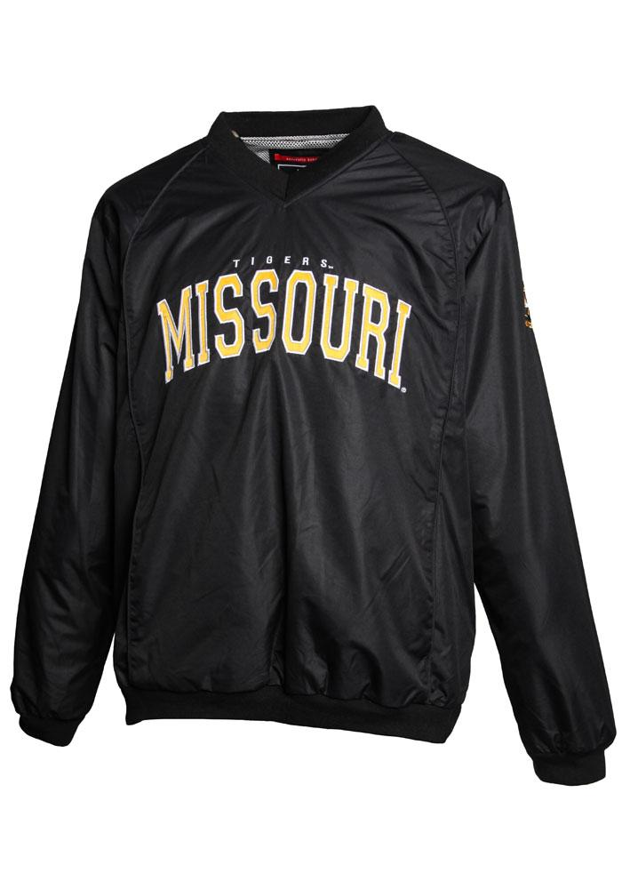 Missouri Tigers Mens Black Coach Windshell Pullover Jackets - Image 1