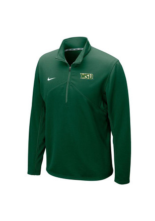 Nike Wright State Raiders Mens Green Training 1/4 Zip Pullover