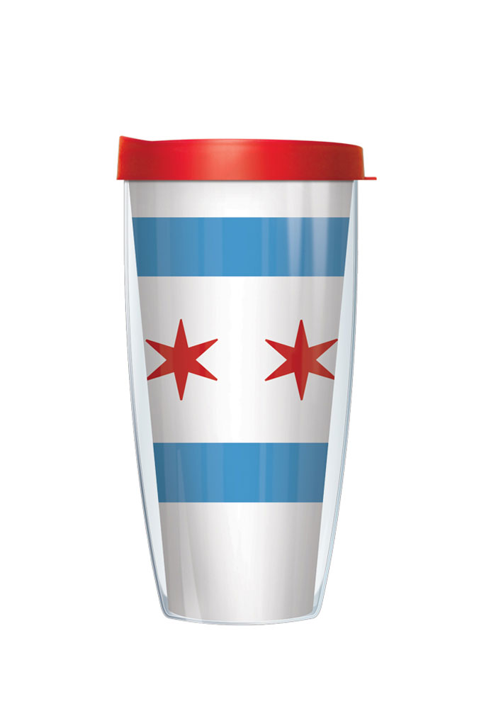 Chicago City Flag Tumbler - Image 1