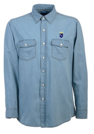 Antigua Kansas City Royals Mens Light Blue chambray Dress Shirt