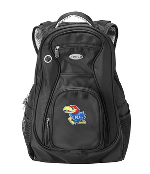 Kansas Jayhawks Black 19 Inch Backpack