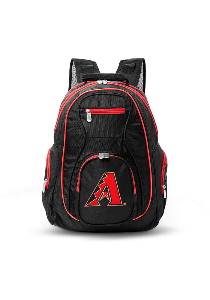 Arizona Diamondbacks Black 19 Laptop Red Trim Backpack - Image 1