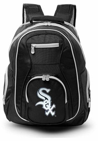 Chicago White Sox 19 Laptop Grey Trim Backpack - Black