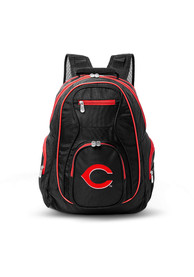 Cincinnati Reds 19 Laptop Red Trim Backpack - Black