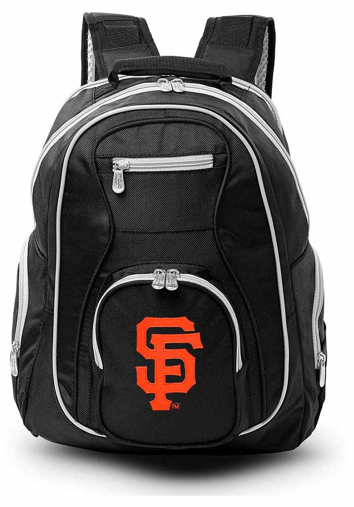 San Francisco Giants Black 19g Laptop Grey Trim Backpack - Image 1