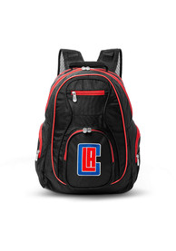 Los Angeles Clippers 19 Laptop Red Trim Backpack - Black