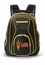 Arizona State Sun Devils 19 Laptop Yellow Trim Backpack - Black