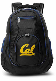 Cal Golden Bears 19 Laptop Blue Trim Backpack - Black