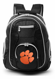 Clemson Tigers 19 Laptop Grey Trim Backpack - Black