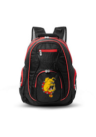 Ferris State Bulldogs 19 Laptop Red Trim Backpack - Black