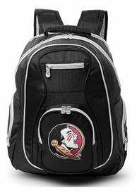 Florida State Seminoles 19 Laptop Grey Trim Backpack - Black