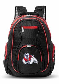 Fresno State Bulldogs 19 Laptop Red Trim Backpack - Black