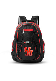 Houston Cougars 19 Laptop Red Trim Backpack - Black