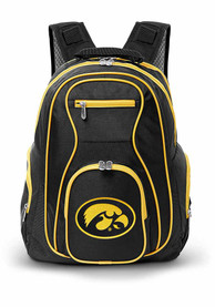 Iowa Hawkeyes 19 Laptop Yellow Trim Backpack - Black