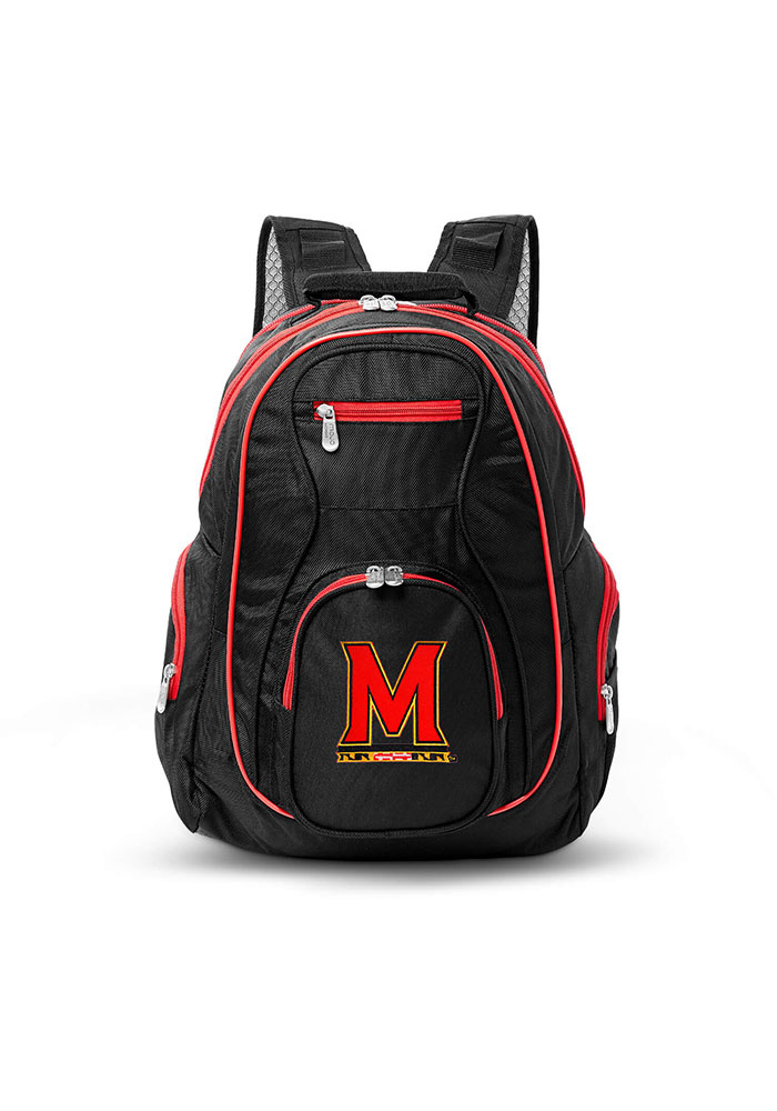Maryland Terrapins Black 19g Laptop Red Trim Backpack - Image 1