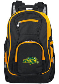 North Dakota State Bison 19 Laptop Yellow Trim Backpack - Black