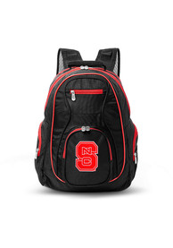 NC State Wolfpack 19 Laptop Red Trim Backpack - Black