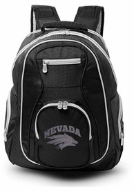 Nevada Wolf Pack 19 Laptop Grey Trim Backpack - Black