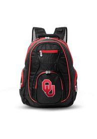 Oklahoma Sooners 19 Laptop Red Trim Backpack - Black