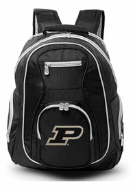 Purdue Boilermakers 19 Laptop Grey Trim Backpack - Black