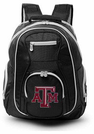 Texas A&M Aggies 19 Laptop Grey Trim Backpack - Black