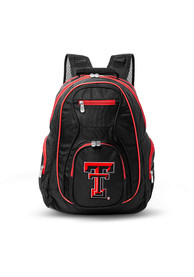 Texas Tech Red Raiders 19 Laptop Red Trim Backpack - Black
