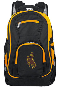 Wyoming Cowboys 19 Laptop Yellow Trim Backpack - Black