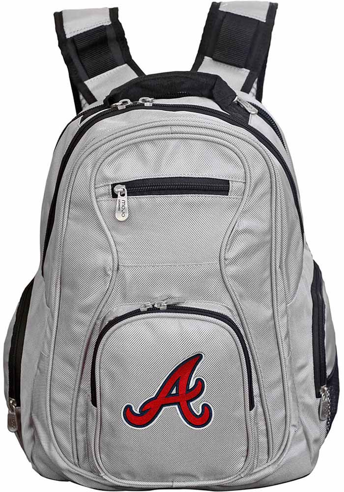 Atlanta Braves Grey 19g Laptop Backpack - Image 1