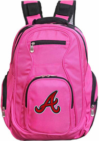 Atlanta Braves 19 Laptop Backpack - Pink