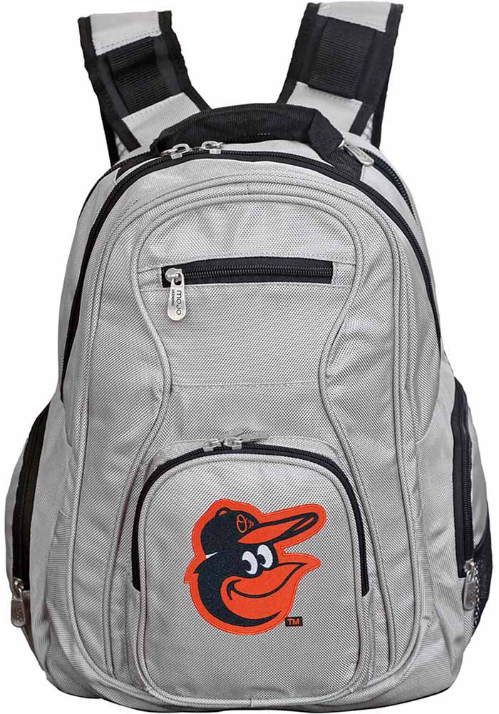Baltimore Orioles Grey 19 Laptop Backpack - Image 1