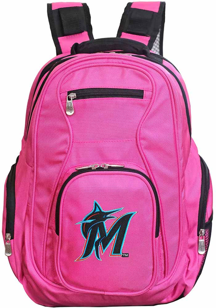 Miami Marlins Pink 19g Laptop Backpack - Image 1