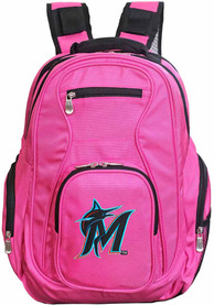 Miami Marlins 19 Laptop Backpack - Pink