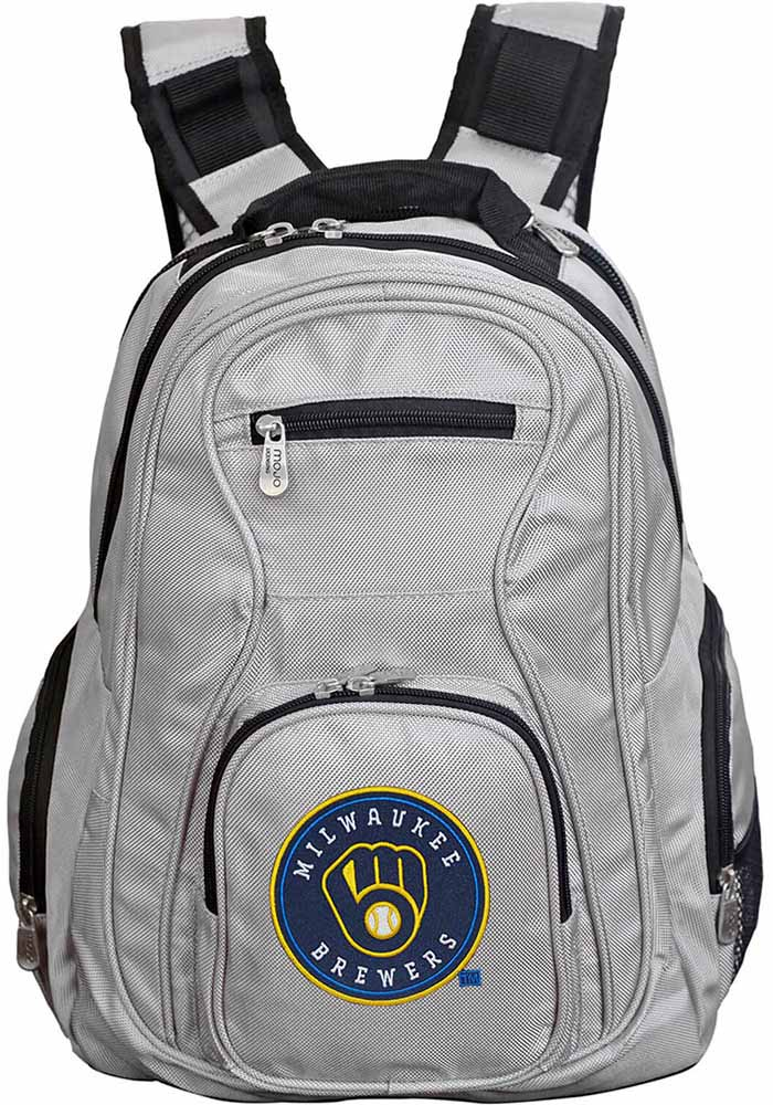 Milwaukee Brewers Grey 19g Laptop Backpack - Image 1