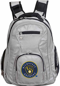Milwaukee Brewers 19 Laptop Backpack - Grey