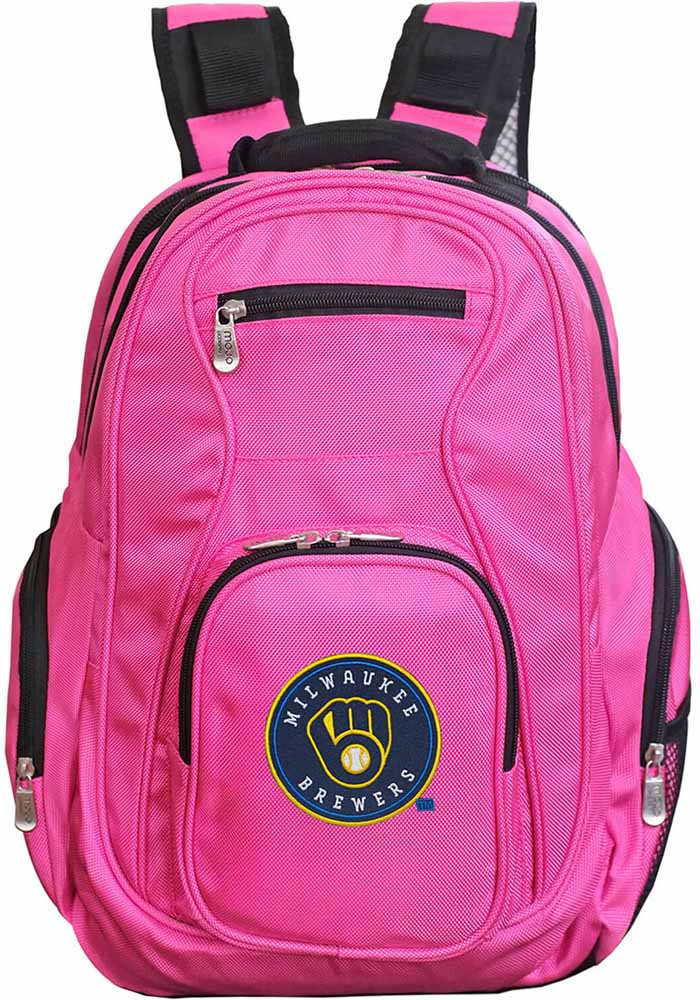 Milwaukee Brewers Pink 19g Laptop Backpack - Image 1