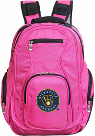 Milwaukee Brewers 19 Laptop Backpack - Pink