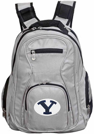 BYU Cougars 19 Laptop Backpack - Grey