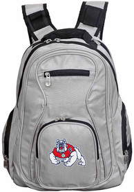 Fresno State Bulldogs 19 Laptop Backpack - Grey