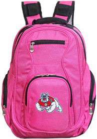 Fresno State Bulldogs 19 Laptop Backpack - Pink